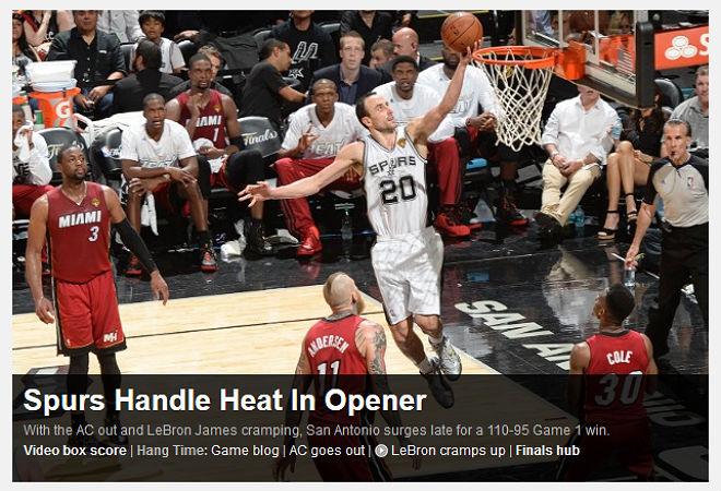 """NBA: «Спёрс"""" приручили """"Хит"""" (жару) в матче открытия»"""