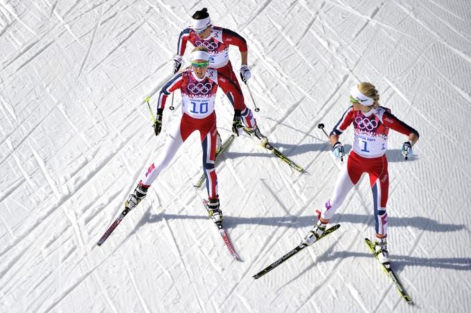 На подиуме в лыжном спринте — только норвежки