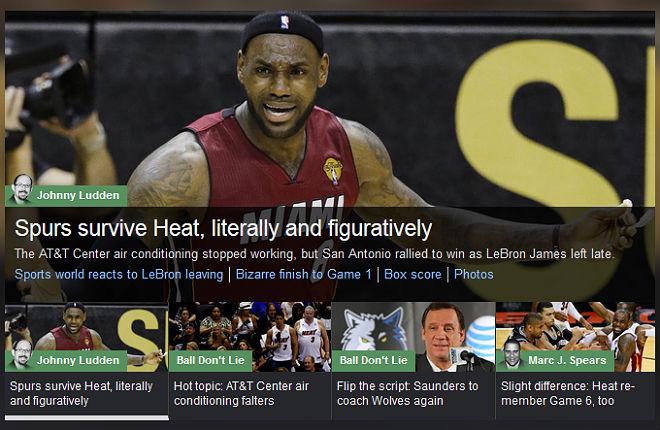 """YahooSports!: «Спёрс» выжили в жаре, в прямом и переносном смысле"""""""