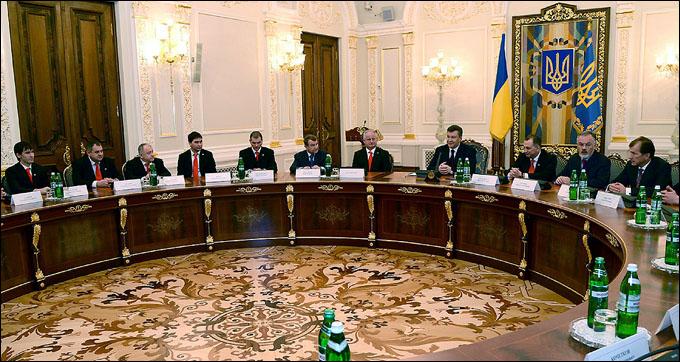 """Донбасс"" на приёме у президента Украины Виктора Януковича"