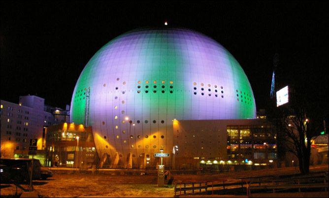 """""""Глобен-Арена"""" в Стокгольме на которой пройдут основные матчи Шведских игр"""