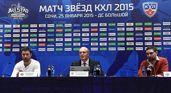 Матч звёзд. Пресс-конференция. Ковальчук, Чернышенко и Зарипов