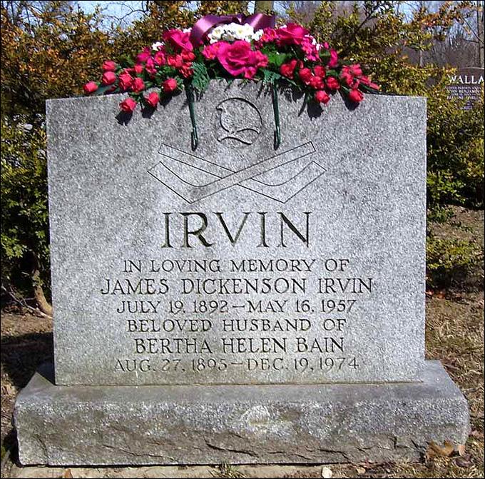 Могила Дика Ирвина на муниципальном кладбище Торонто