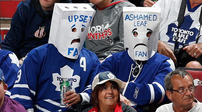 Разочарованные фанаты «Торонто»