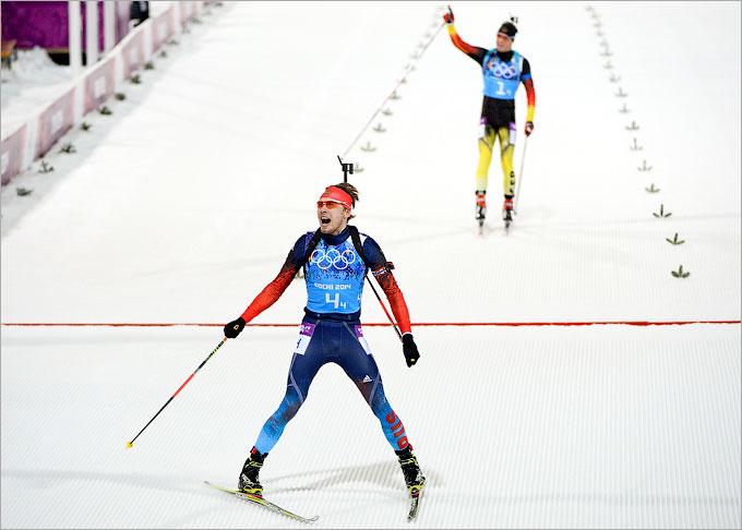 Антон Шипулин внёс важнейший вклад в победу россиян в биатлоне