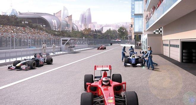 Будущий пит-лейн автодрома в Баку