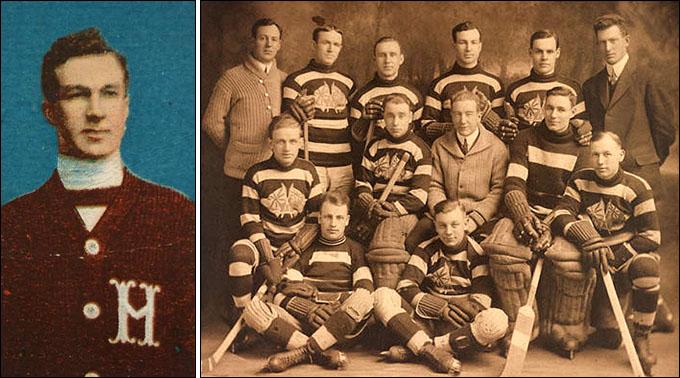 """""""Оттава"""" образца сезона 1914/15. Арт Росс третий справа в заднем ряду"""