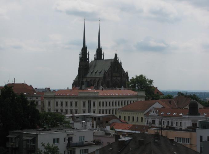 """Вид на Брно со смотровой площадки замка """"Шпильберг"""""""