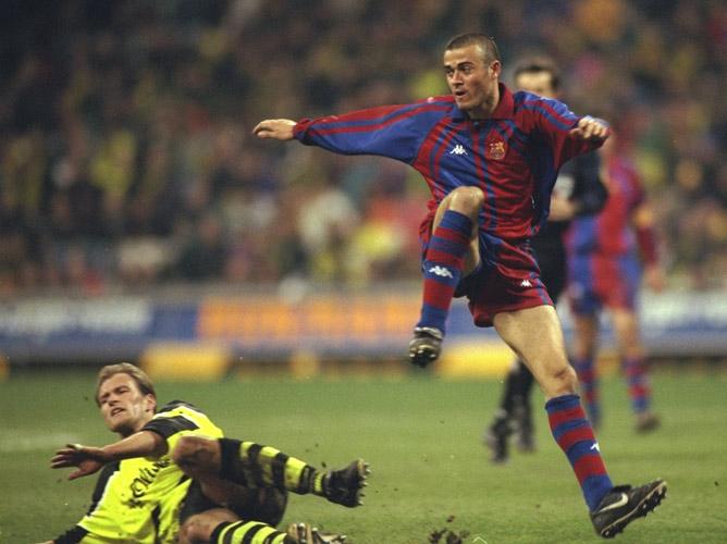"""Луис Энрике (""""Реал"""" М — """"Барселона"""", 1996 год)"""