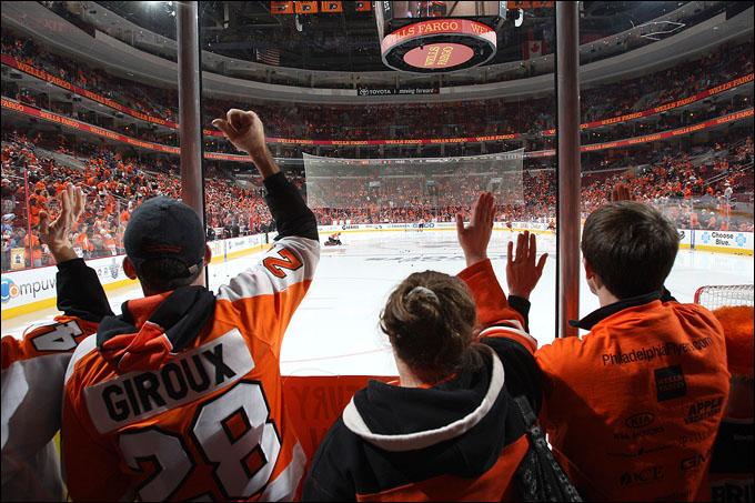"""19 апреля 2012 года. Филадельфия. Плей-офф НХЛ. 1/8 финала. """"Филадельфия Флайерз"""" — """"Питтсбург Пингвинз"""" — 3:10"""