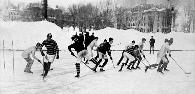 История Кубка Стэнли. Играют команды университета Макгилл, 1887 год.