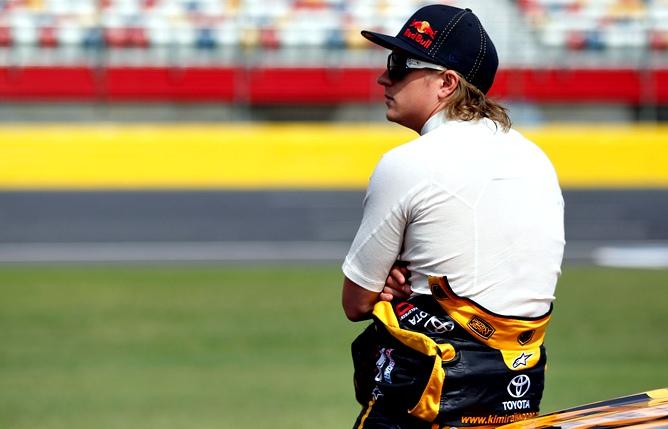 Кими на этапе NASCAR