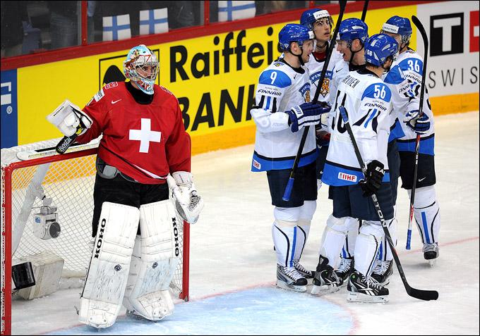 8 мая 2012 года. Хельсинки. Чемпионат мира. Групповой турнир. Финляндия — Швейцария — 5:2