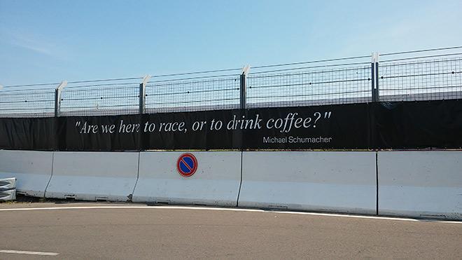 «Мы здесь, чтобы гоняться, или пить кофе?». М.Шумахер