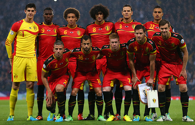 Сборная Бельгии перед матчем со сборной Шотландии