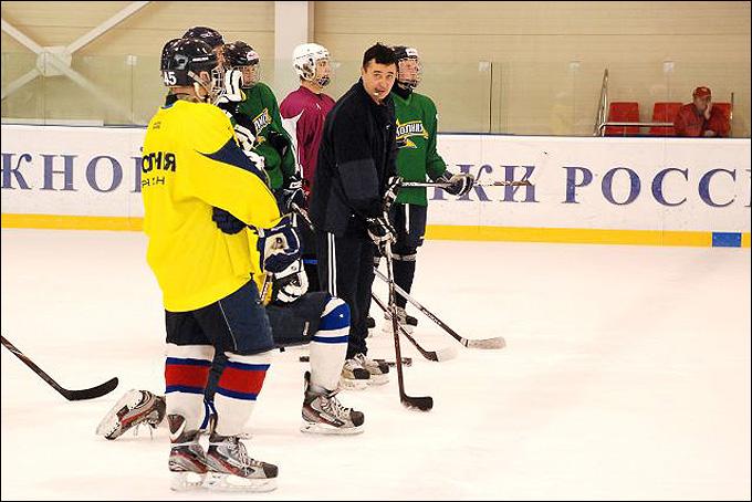 Юрий Бирюков на тренировке