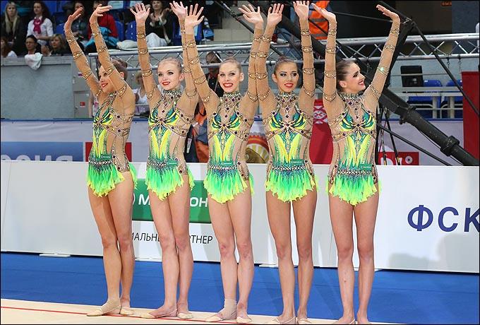 Сборная России – чемпионки Европы в групповых упражнениях