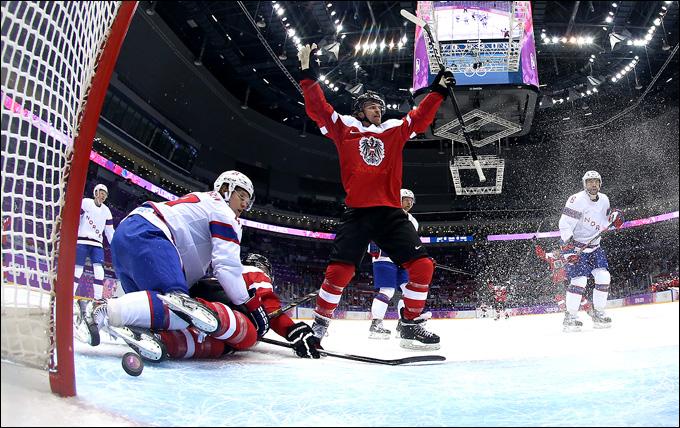 16 февраля 2014 года. Сочи. XXII зимние Олимпийские игры. Хоккей. Групповой этап. Австрия — Норвегия — 3:1