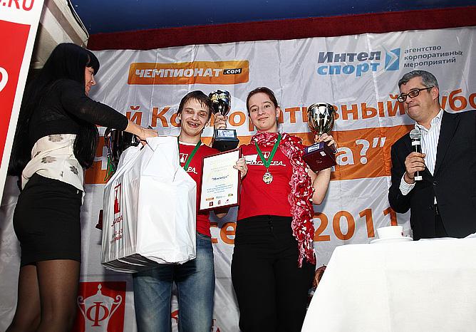 """Победители Кубка — """"Мосигра""""."""