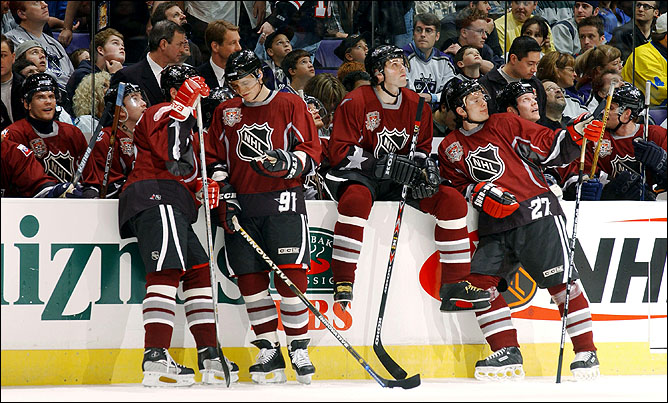 Фрагменты сезона. 2 февраля 2002 года. Матч Всех звезд НХЛ. Сборная мира