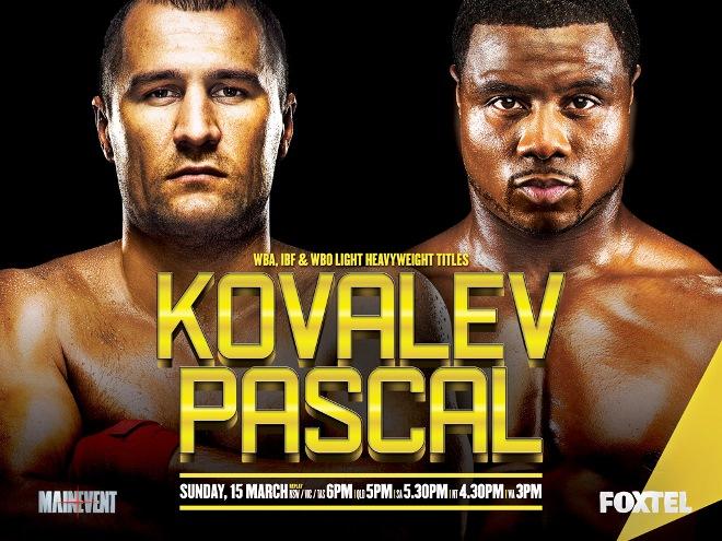 Постер к бою Ковалёв — Паскаль