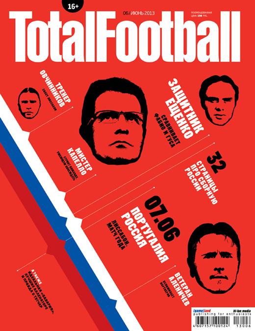 Обложка июньского номера Total Football