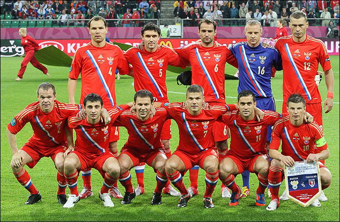 Сборная России перед матчем с Чехией