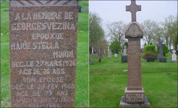 Здесь похоронен Жорж Везина