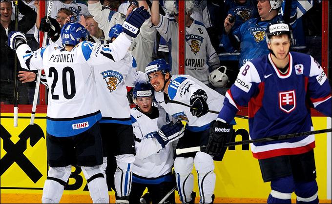 16 мая 2013 года. Хельсинки. Чемпионат мира. 1/4 финала. Финляндия — Словакия — 4:3