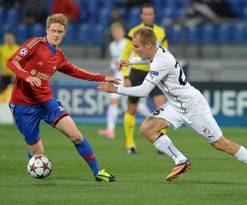 ЦСКА сыграл матч Лиги чемпионов в Санкт-Петербурге