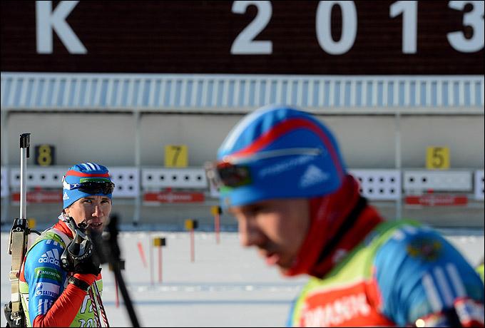 Сборная России проводит тренировку перед заключительным этапом Кубка мира-2012/2013