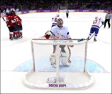 13 февраля 2014 года. Сочи. XXII зимние Олимпийские игры. Хоккей. Групповой этап. Канада — Норвегия — 3:1
