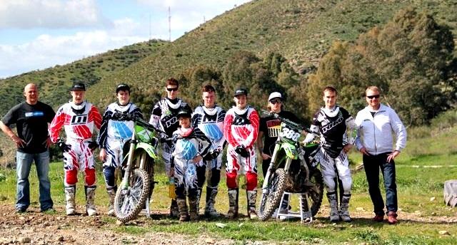 Кими и члены команды Ice 1 Racing