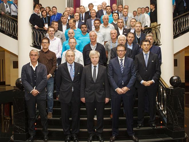 Участники технической конференции тренеров ФИФА и УЕФА в Санкт-Петербурге
