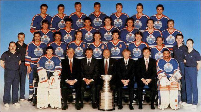 "Обладатели Кубка Стэнли 1988 года — ""Эдмонтон Ойлерз""."