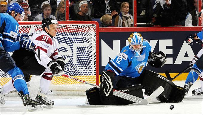 14 мая 2014 года. Хельсинки. Чемпионат мира. Групповой этап. Латвия — Финляндия — 2:3 (ОТ)
