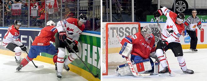 Фрагменты матча Норвегия — Канада