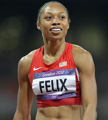 Эллисон Феликс на Олимпиаде в Лондоне выиграла три золота