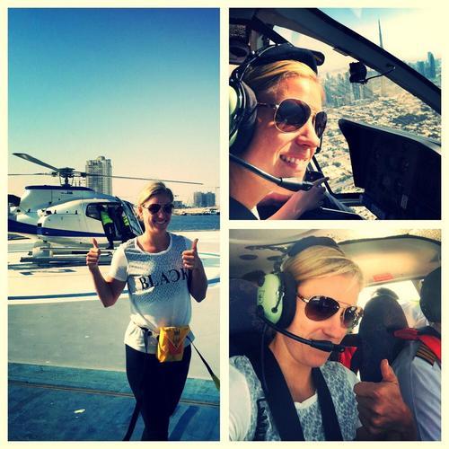 Анжелика Кербер сообщила в своём блоге, что в межсезонье впервые полетала на вертолёте