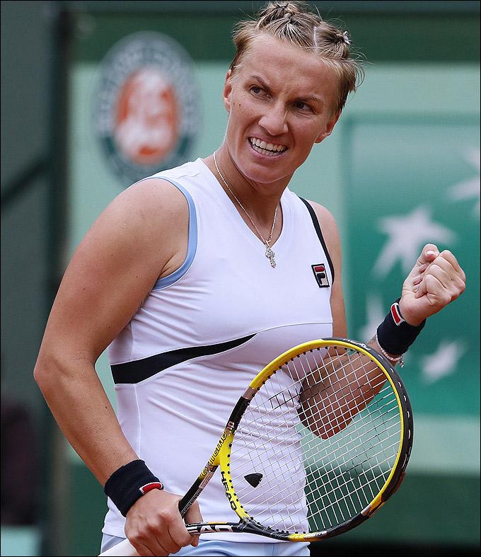 Светлана провела отличный матч против Агнешки
