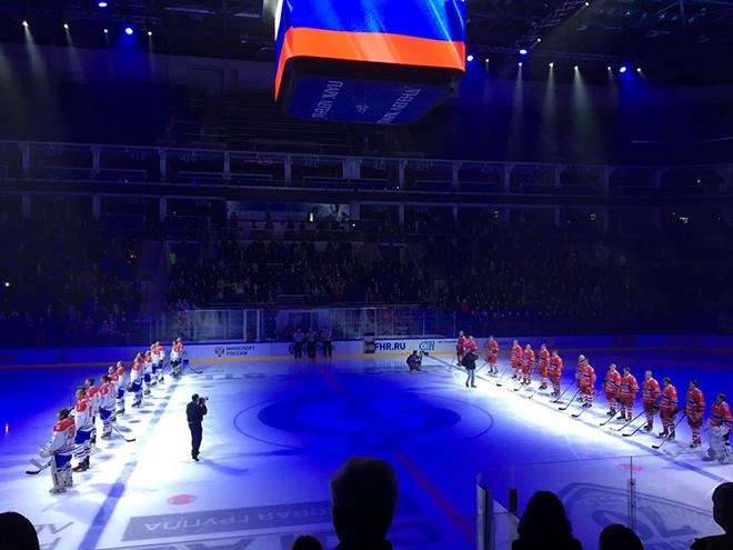 Матч открытия нового сезона Ночной хоккейной лиги