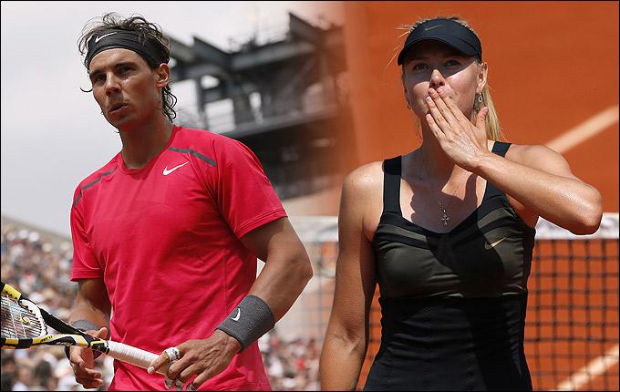 Шарапова и Надаль пока что без проблем идут по турнирной сетке