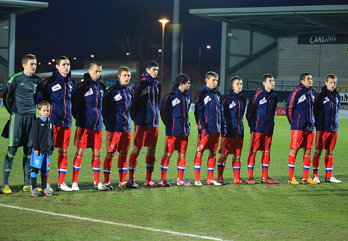 Сборная России (U-17) перед матчем со сверстниками из Англии
