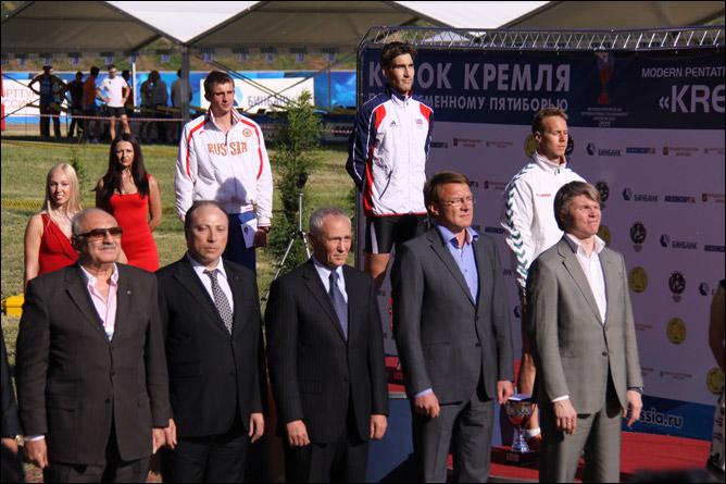 Награждение победителей Кубка Кремля по современному пятиборью