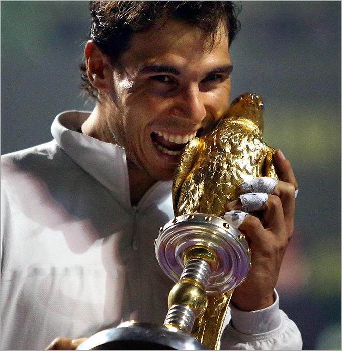 Рафаэль Надаль впервые выиграл Доху