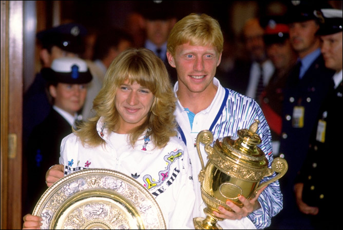 Штеффи Граф, Германия – 7 титулов (1988, 1989, 1991 – 1993, 1995, 1996), Борис Беккер, Германия – 3 (1985, 1986, 1989)