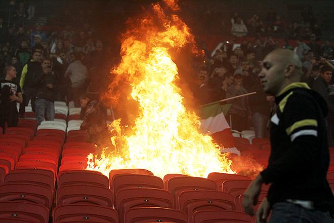Пожар на стадионе «Рубина»