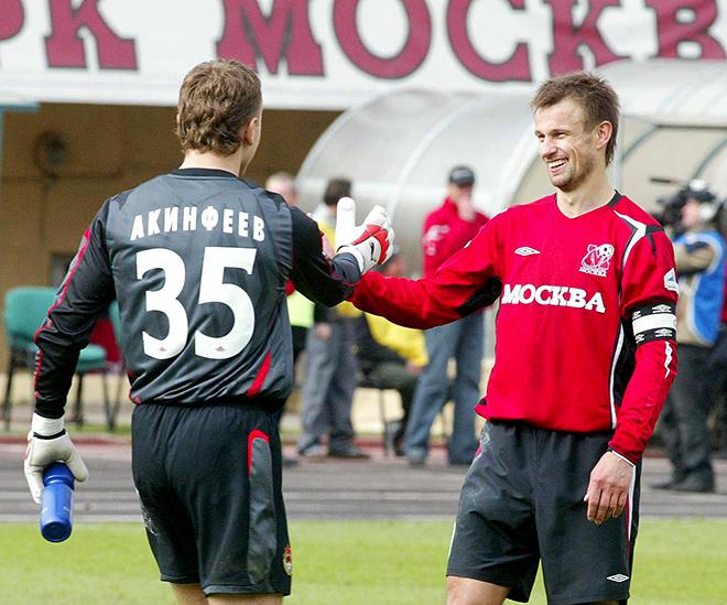 Игорь Акинфеев и Сергей Семак