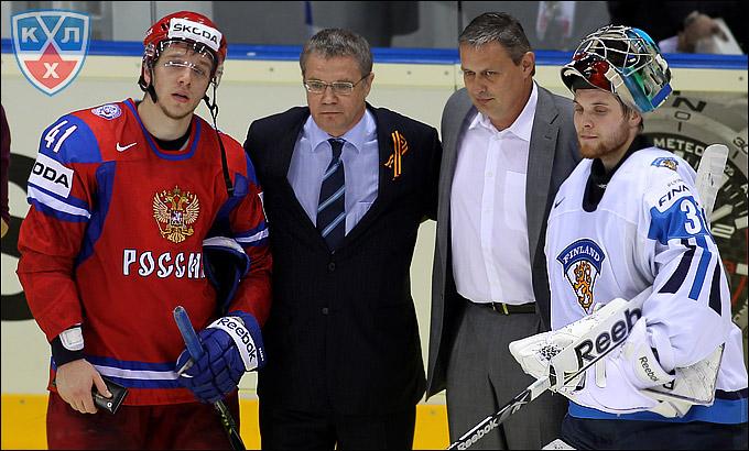 Николай Кулёмин, Александр Медведев и Теему Лассила.