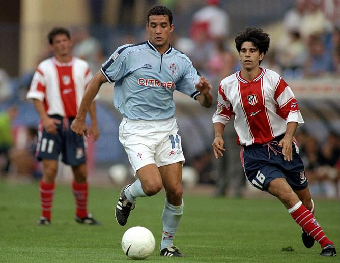 """12 сентября 1999 года. """"Атлетико"""" — """"Сельта"""". Справа — Хуан Валерон"""